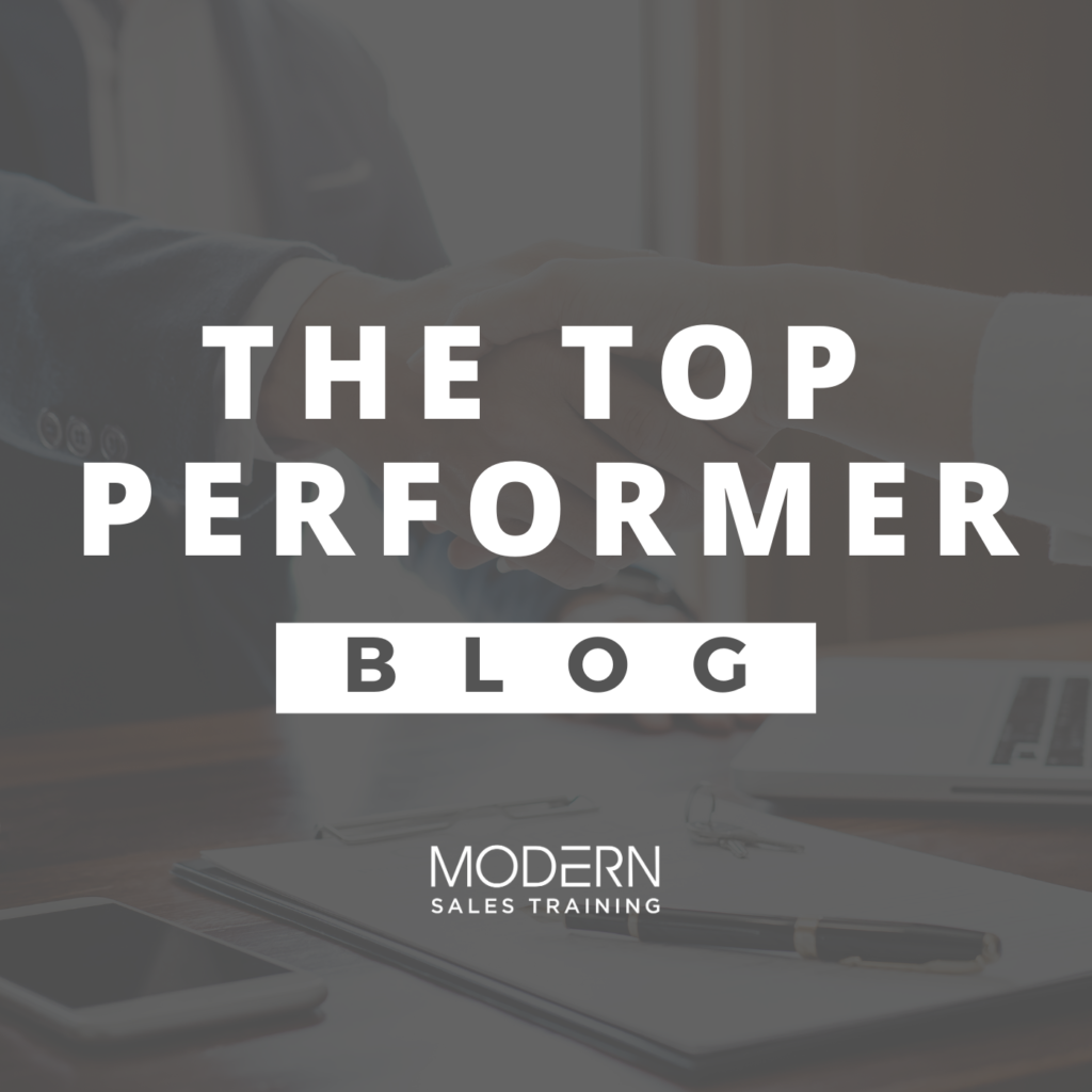 Top Performers Sales Blog from Modern Sales Training