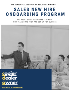 Copier Dealer Sales Onboarding Guide Modern Sales Training